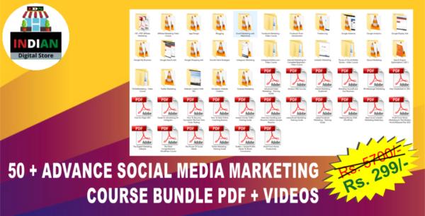 50 ADVANCE SOCIAL MEDIA MARKETING COURSE BUNDLE PDF Video. 1