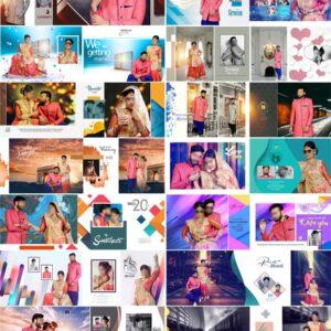 Free Download Top 30 Pre Wedding Photo Album 12x36 PSD Designs