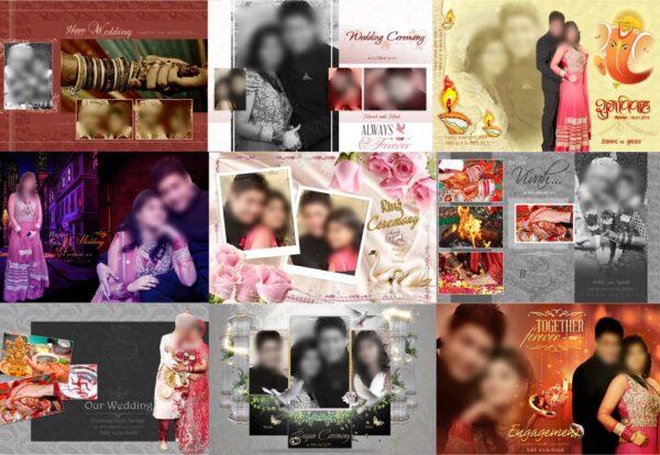 Wedding Photo Album Cover Design PSD Sheets